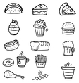 Doodle of food object vector image