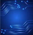 Hi tech circuit board vector image vector image