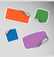 Set of colored blank rectangle stickers vector image vector image