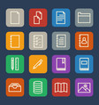simple documents and library icons set for vector image