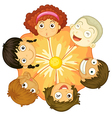 A flower with kids as petals vector image vector image
