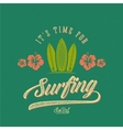 Retro Style Surfing Label Logo or T-shirt vector image