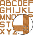 planks alphabet vector image vector image