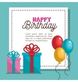 card gift balloons party birthday graphic vector image