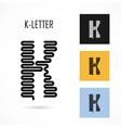 Creative K - letter icon abstract logo design vector image
