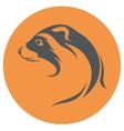 Ferret icon and silhouette vector image
