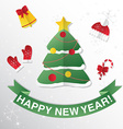 Greeting Card with Christmas tree Congratulations vector image