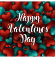 Happy Valentines Day Calligraphy Lettering of Red vector image