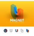 Magnet icon in different style vector image