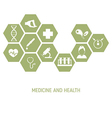 Medicine background with icons vector image