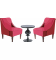 Modern Chairs and Table furniture set vector image