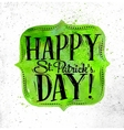 Poster St Patrick frame vector image