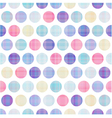 seamless polka dots pattern vector image