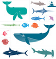 Sea set vector image