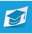 Academic hat sticker vector image