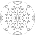 Coloring Lotus Mandala Diksha vector image