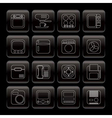line home and office equipment icons vector image vector image