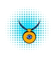 Amulet against the evil eye icon comics style vector image