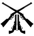 Classic Wild West guns vector image