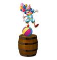 A clown above the barrel vector image