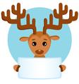 Banner with deer vector image