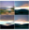 Blurred Sunset backgrounds set sunrise wallpaper vector image