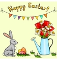 cartoon set for Easter card vector image