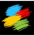 Colorful Scribble Stains on Black Background vector image