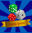 dice casino design background vector image