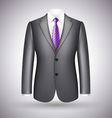 elegant business suit vector image