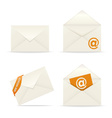 Envelope icon mail on white background vector image