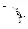 frisbee vector image