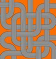 orange labyrinth vector image