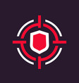 security breach icon vector image