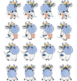 set of cows for computer game vector image