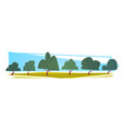 summer landscape green trees cartoon horizontal vector image