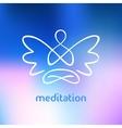 symbol of yoga meditation spirituality vector image