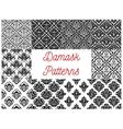 Damask seamless pattern set for wallpaper design vector image vector image