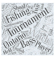 bass fishing tournaments Word Cloud Concept vector image
