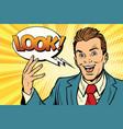 Active joyful speaker businessman look vector image