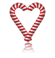 Lovely candy cane vector image vector image