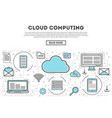 cloud computing linear style infographics vector image