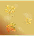 with falling autumn leaves on a gold background vector image