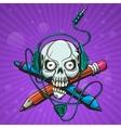 Skull Artist vector image