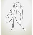 girl sketch vector image