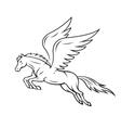 Pegasus horse vector image vector image