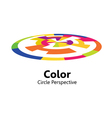 color circle perspective vector image