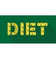 Diet word with yellow measuring tape vector image