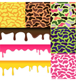 Colored seamless pattern drips background camoufla vector image vector image
