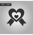 black and white style icon gays heart vector image